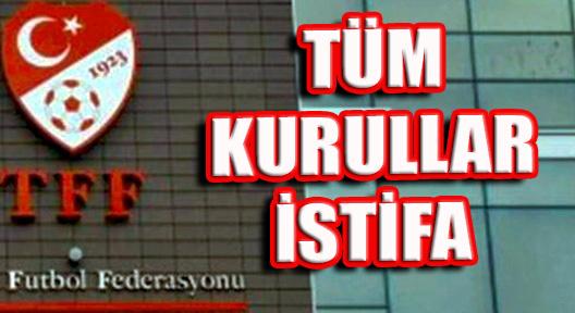 TFF'DE FETÖ DEPREMİ, 'TÜM KURULAR İSTİFASINI VERDİ'