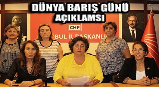 CHP İSTANBUL İL KADIN KOLLARI'NDAN 1 EYLÜL AÇIKLAMASI