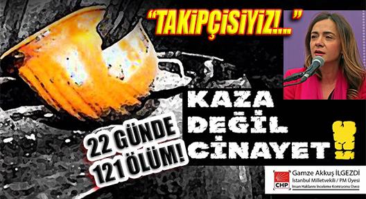 İSİG: 'EKİM'DE 22 GÜNDE 121 İŞ CİNAYETİ!'