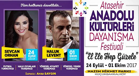 Ataşehir Anadolu Kültürleri Dayanışma Festivali Başlıyor