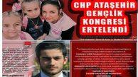 CHP Ataşehir Gençlik Kongresi Ertelendi