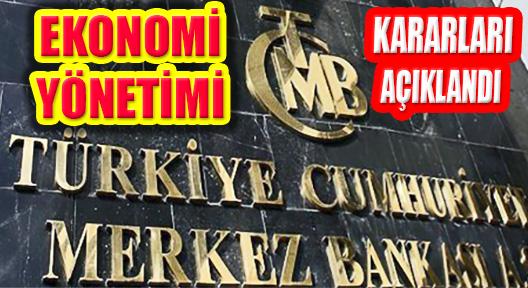 Merkez Bankası, Türk Lirası ve Döviz Yönetimi Kararını Açıkladı