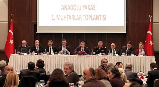 Anadolu Yakası Muhtarlar Toplantısı Gerçekleşti
