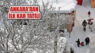 Mevsimin İlk Kar Tatili Açıklaması Ankara'dan Geldi