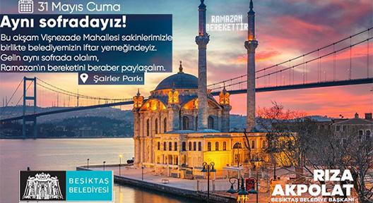 Beşiktaş'ta Ramazan Programında Kadir Gecesi Buluşması