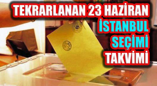 İl Seçim Kurulu 23 Haziran İstanbul Seçim Takvimini Açıkladı