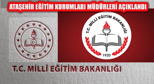 Ataşehir'deki 34 Eğitim Kurumunun Müdürleri Belirlendi