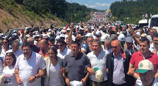 On Binler Kaz Dağları'nda Altın Madenine Karşı Yürüdü