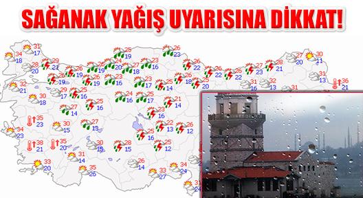 İstanbul'da 3 Gün Sürecek Sağanak Yağmura Dikkat!
