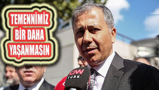 İstanbul Valisi Yerlikaya Sel Mağduru Eminönü Alt Geçidinde