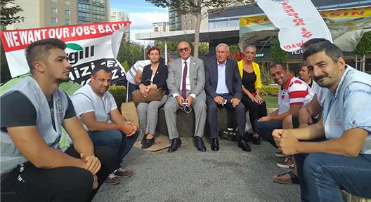 CHP'den Ataşehir'deki Cargill İşçilerinin Eylemine Destek
