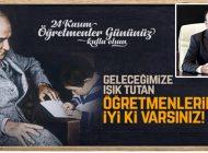 Başkan Battal İlgezdi'den 24 Kasım Öğretmenler Günü'nü Kutlaması