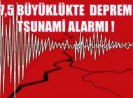 7,5 Büyüklüğünde Deprem, Tsunami Alarmı Verildi