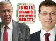 Ekrem İmamoğlu ve Mansur Yavaş'a Soruşturma Başlatıldı