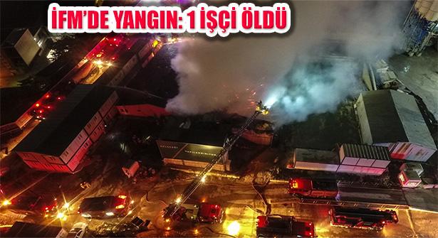 Ümraniye'de İstanbul Finans Merkezi Şantiyesinde Yangın Çıktı