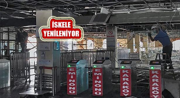 Kadıköy Vapur İskelesi Sokak Kısıtlamasında Yenileniyor