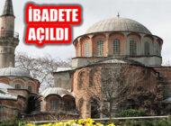 İstanbul'daki Kariye Camii Diyanet'e Devredildi İbadete Açıldı