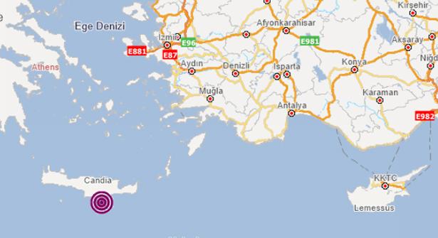 Akdeniz Açıkları 5.7 Büyüklüğünde Depremle Sarsıldı