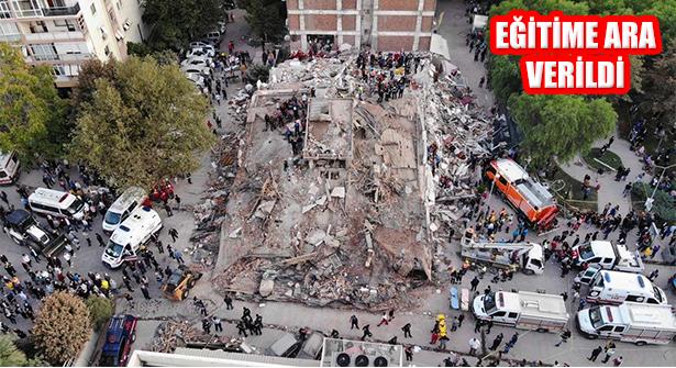Deprem Bölgesi İzmir'de İlk ve Orta Öğretime Ara Verildi