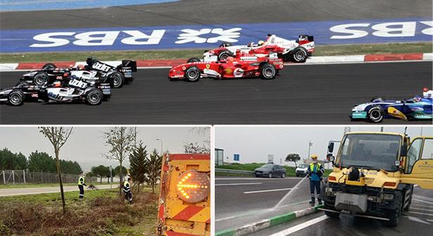 İstanbul'da Formula 1'e Giden Yollar Temizleniyor