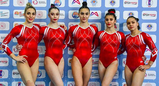 Artistik Cimnastik Kadınlar Milli takımımız Avrupa Dördüncüsü