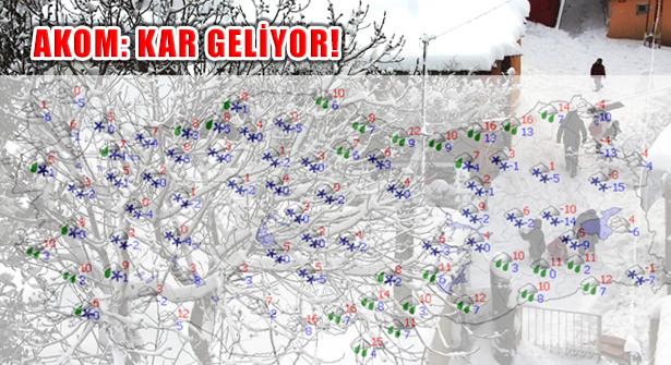Trakya'dan Başlayacak Soğuk ve Kar Yağışı İstanbul'a Geliyor