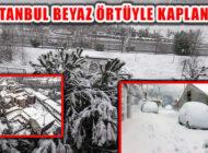 İstanbul Beklenen Kar Yağışının Gelmesiyle Beyaz Örtüyle Kaplandı