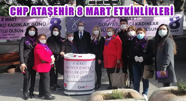 CHP Ataşehir Kadın Kolları'ndan Kadınlar Günü Etkinliği