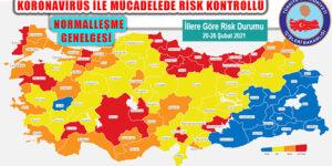 Koronavirüs Riskinde Dörde Ayrılan İllerde Düzenleme Genelgesi