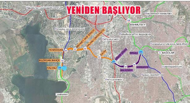 Kirazlı – Halkalı Metro İnşaatını Yeniden Başlıyor