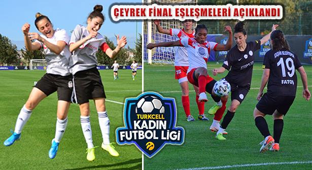 Turkcell Kadın Futbol Ligi'nde Çeyrek Final Eşleşmeleri Belirlendi