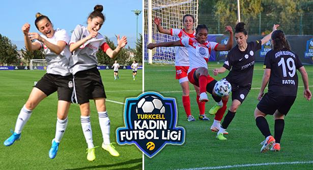 Antalya'da Oynanan Turkcell Kadın Futbol Ligi Devam Ediyor
