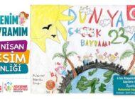 Resim Şenliğinde 6 Bin Çocuk 23 Nisan'ı Resmetti