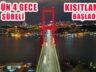 3 gün 4 gece Sürecek Haftasonu Sokak Kısıtlaması Başladı