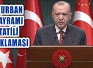 Cumhurbaşkanı Erdoğan, Kurban Bayramı Tatili Açıklaması Yaptı