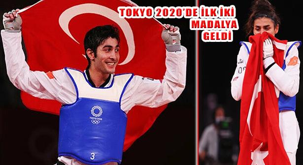 2020 Tokyo Yaz Oyunlarında İlk Madalyalar Hatice ve Hakan'dan