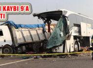 Soma'da Otobüsün TIR'a Çarptığı Kazada Ölüm 9'a Çıktı