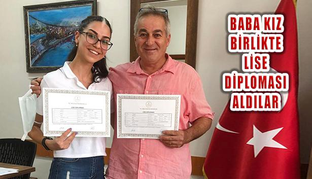 Eğitime Teşvik İçin Başlayan Baba Kızıyla Birlikte Lise Diploması Aldı