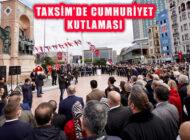 İstanbul Taksim'de Cumhuriyetin 98'nci Yıl Kutlaması