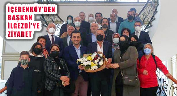 İçerenköy Dernek Yönetimi Başkan İlgezdi'yi Ziyaret Etti