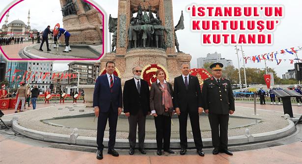 'İstanbul'un Düşman İşgalinden Kurtuluşu' Taksim'de Kutlandı
