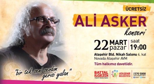 Ali Asker Ataşehir'de Konser Veriyor