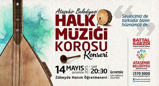 Ataşehir Belediyesi Halk Müziği Korosundan Konser