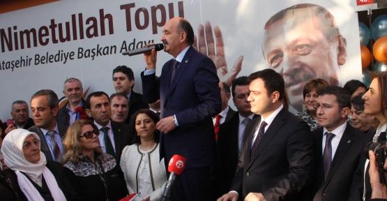 Sağlık Bakanı Ataşehir Ak Parti Seçim Koordinasyon Merkezini Açtı