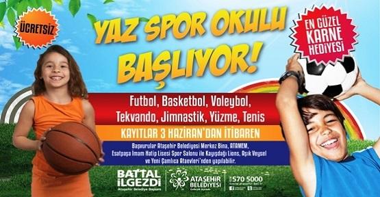 Ataşehir'de Yaz Spor Okullarına kayıtlar başlıyor