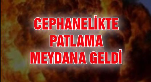 Afyonkarahisar'da askeri cephanelikte patlama