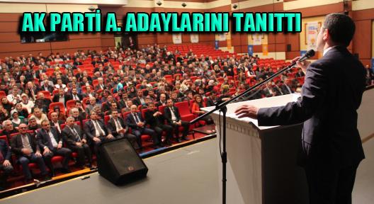 Ak Parti Ataşehir'de Aday Adaylarını Tanıttı