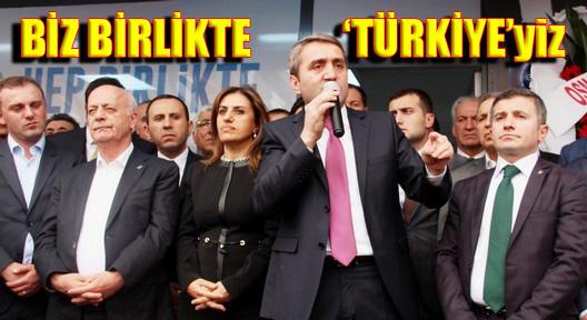 Selim Temurci 'Biz birlikte Türkiye'yiz'