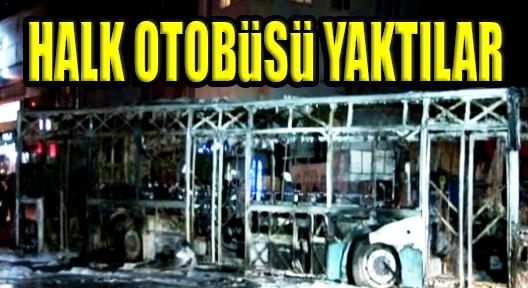 Terör Yandaşları Ataşehir'de Özel Halk Otobüsü Yaktı
