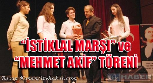 Ataşehir'de İstiklal Marşı'nın 94 Yılı Kutlandı